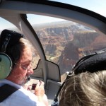 south rim helicopter over colorado river