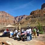 grand canyon picnic at bottom of the national park