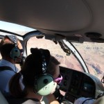 riding a south rim helicopter