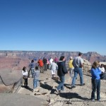 enjoying a grand canyon south rim lookout