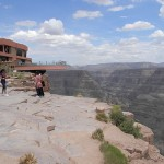 skywalk looks over grand canyon