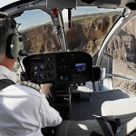 view from inside a grand canyon helicopter
