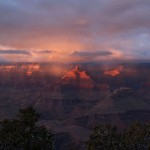 a gorgeous sunset over grand canyon national park