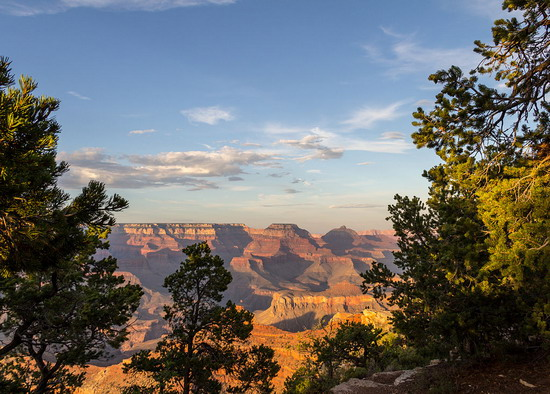 grand canyon south sunset